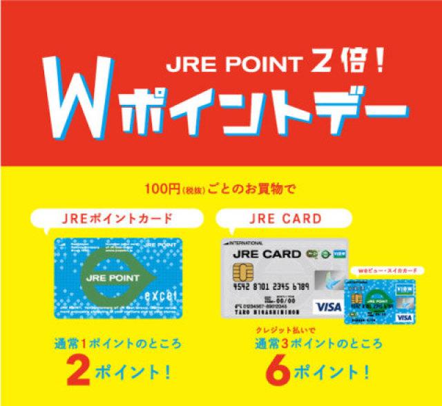1月のJRE POINT Wポイントデーのお知らせ